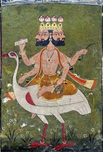 ಬ್ರಹ್ಮ - Brahma on hamsa