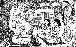 ವಾಲ್ಮೀಕಿಯು ರಾಮಾಯಣವನ್ನು ಮೊಟ್ಟಮೊದಲು ಹೇಳಿಕೊಟ್ಟುದು ಶ್ರೀರಾಮನ ಮಕ್ಕಳಾದ ಲವ ಮತ್ತು ಕುಶರಿಗೆ